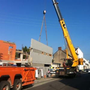 Manutention Levage - Grue - chantier - charge - poid lourd - entreprise Gelin